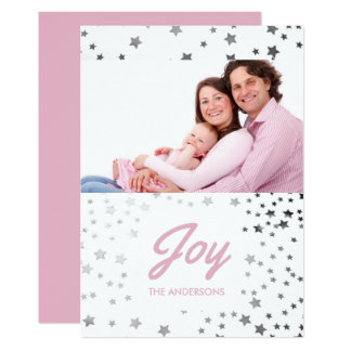 Starry Joy Christmas Holiday Photo Card