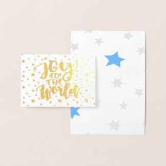 Starry Joy To The World Foil Card