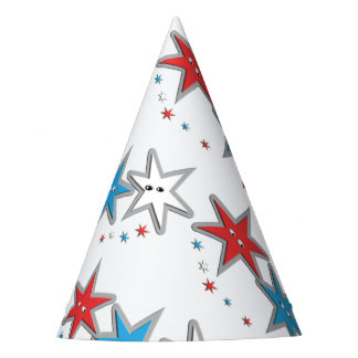 Starry Looks - A Patriotic Trio Paper Party Hat