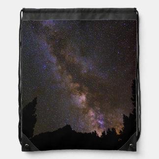 Starry Milky way, California Drawstring Bag