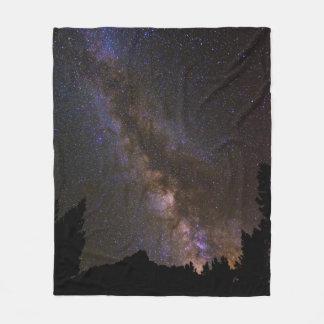 Starry Milky way, California Fleece Blanket