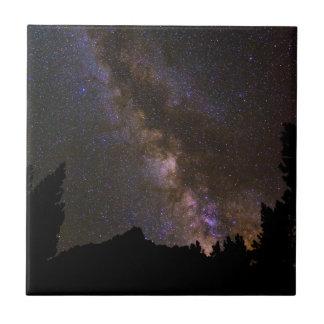 Starry Milky way, California Tile