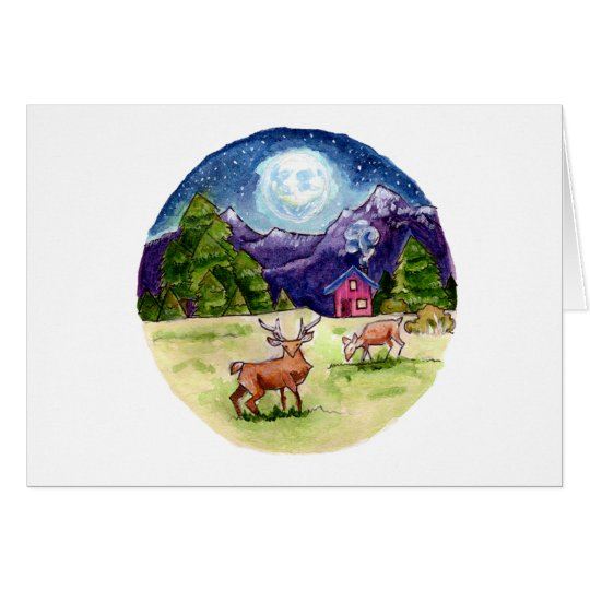 Starry Mountain Card