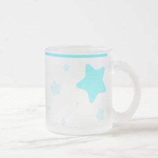 Starry Mug with Collar - Cyan
