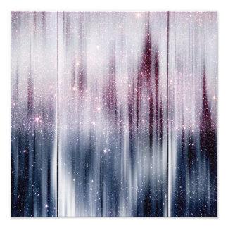 Starry Nebula Glitter Photo Print