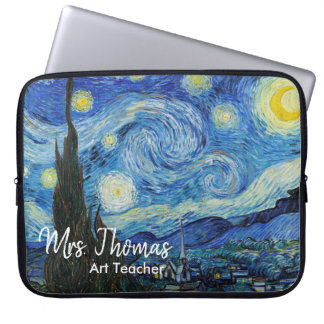 "Starry Night 15"" Neoprene Laptop Sleeve Customised"