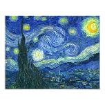 Starry Night 4.25x5.5 Paper Invitation Card