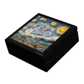 Starry Night after Vincent Van Gogh Christmas Gift Box