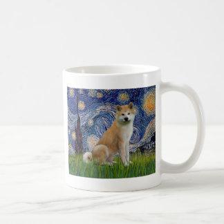 Starry Night - Akita Inu Coffee Mug