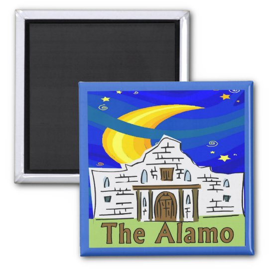 Starry Night Alamo Square Magnet