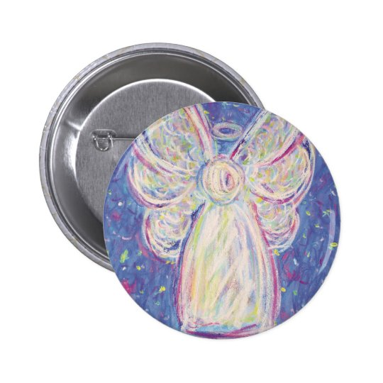 Starry Night Angel 6 Cm Round Badge