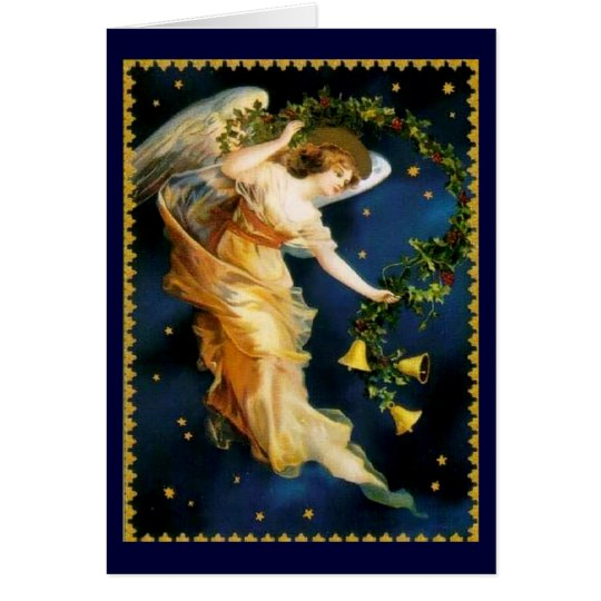 Starry Night Angel - Christmas Card