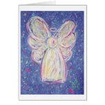 Starry Night Angel Greeting Card