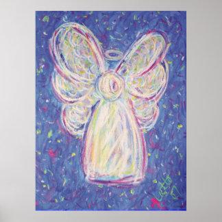 Starry Night Angel Poster Art Print