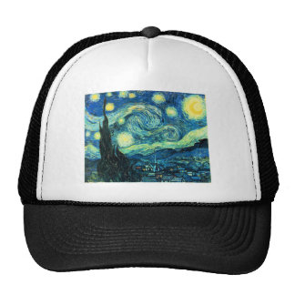 Starry Night art Trucker Hats