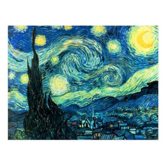 Starry Night art Postcard