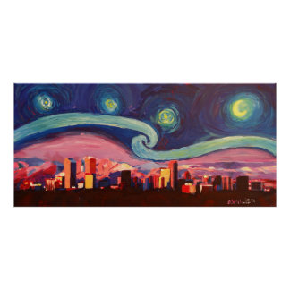 Starry Night at Denver Poster