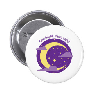 Starry Night Pinback Buttons