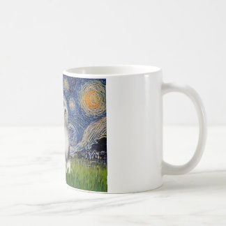 Starry Night - Black & White Tibetan Terrier Coffee Mug