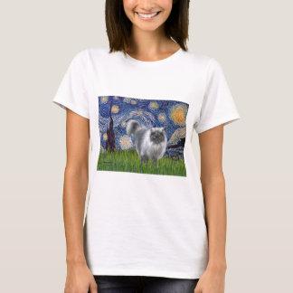 Starry Night - Blue Smoke Persian cat T-Shirt