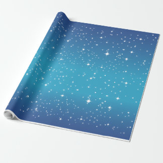 Starry Night Blue Wrapping Paper