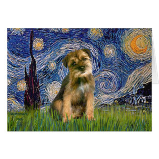 Starry Night - Border Terrier #1 Card