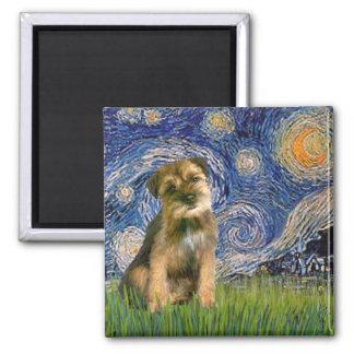 Starry Night - Border Terrier #1 Fridge Magnet