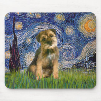 Starry Night - Border Terrier #1 Mouse Mat