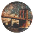 Starry Night Brooklyn Bridge Plate