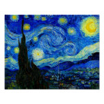 Starry Night by Van Gogh Fine Art Poster Print