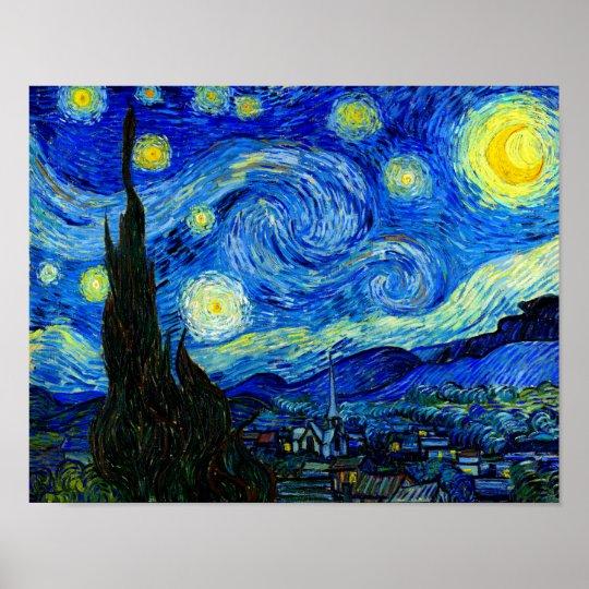 Starry Night by Van Gogh Fine Art Poster