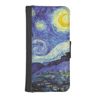 Starry Night by Van Gogh iPhone SE/5/5s Wallet Case