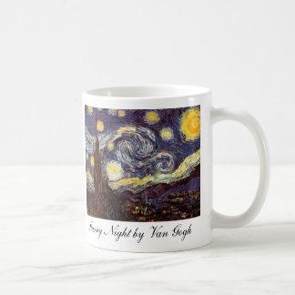 Starry Night by Van Gogh Basic White Mug