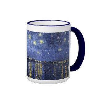 Starry Night by van Gogh Ringer Mug