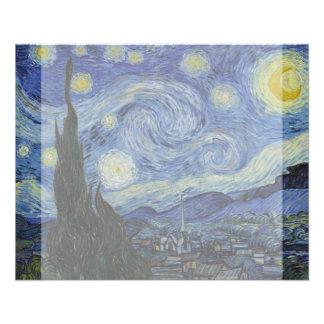 Starry Night by Vincent Van Gogh 11.5 Cm X 14 Cm Flyer