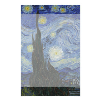 Starry Night by Vincent Van Gogh 14 Cm X 21.5 Cm Flyer