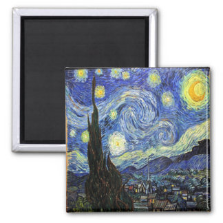 Starry Night By Vincent Van Gogh 1889 Magnet
