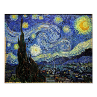 Starry Night By Vincent Van Gogh 1889 Poster
