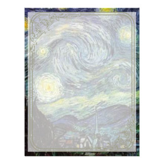 Starry Night by Vincent van Gogh. 21.5 Cm X 28 Cm Flyer