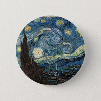 Starry Night by Vincent Van Gogh 6 Cm Round Badge