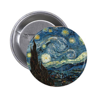 Starry Night by Vincent Van Gogh Pinback Buttons