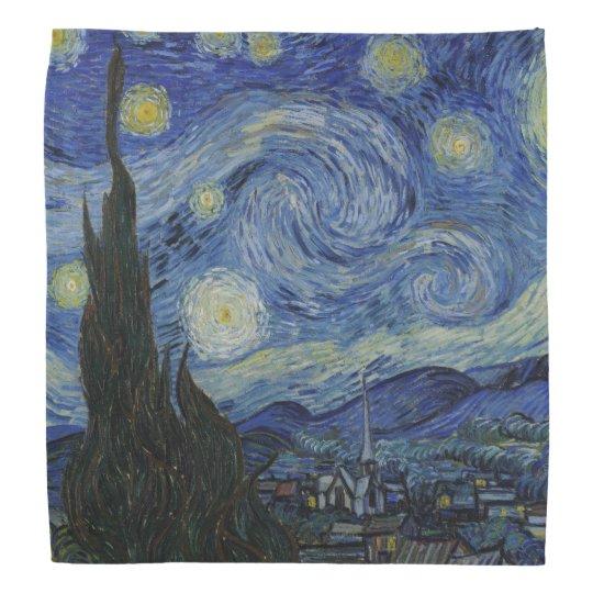 Starry Night by Vincent Van Gogh Bandannas
