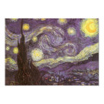 Starry Night by Vincent van Gogh, Birthday Party Personalized Announcements