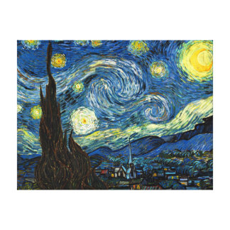 Starry Night by Vincent Van Gogh Canvas Art Stretched Canvas Print