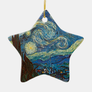 Starry Night by Vincent van Gogh Ceramic Star Decoration