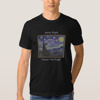 Starry Night by Vincent Van Gogh Dark T Shirt