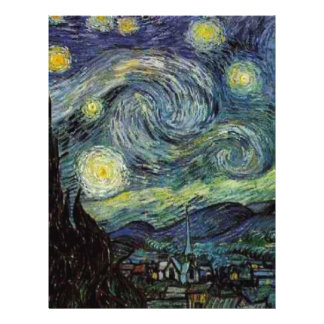 Starry Night by Vincent van Gogh. Flyers