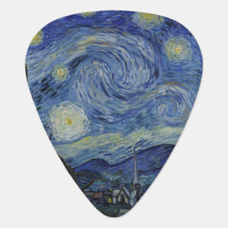 Starry Night by Vincent Van Gogh Guitar Pick