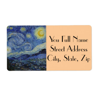 Starry Night by Vincent van Gogh Shipping Label