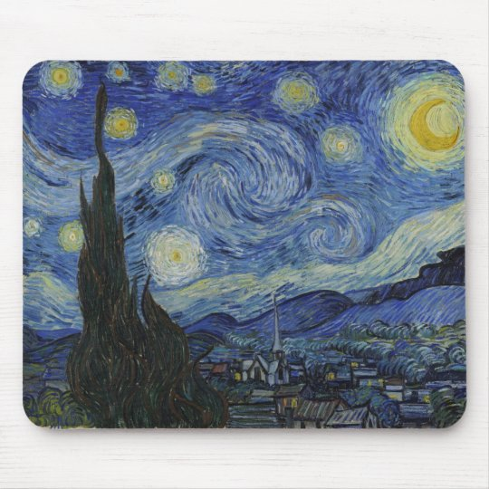 Starry Night by Vincent van Gogh Mouse Mat